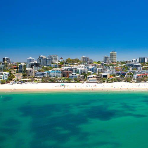 Sunshine Coast beach scene